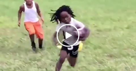 Little Kid Jukes Out A Whole Football Team like Leveon Bell