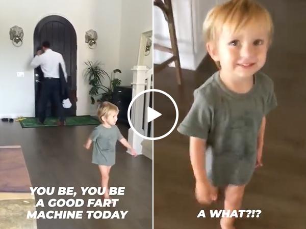 Kid gets emotional saying goodbye to his 'Fart Machine' (Video)