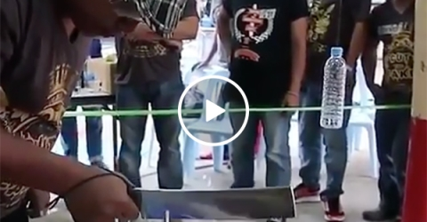 Knife Cutting Competitions in Asia are Sharp and Chaotic