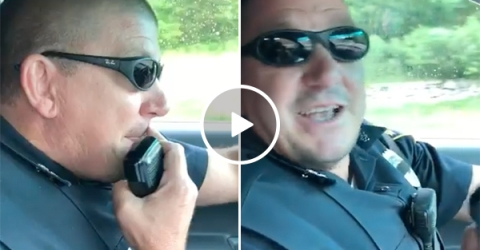 Police Officer Retires and Hears Son on Intercom and Starts Crying