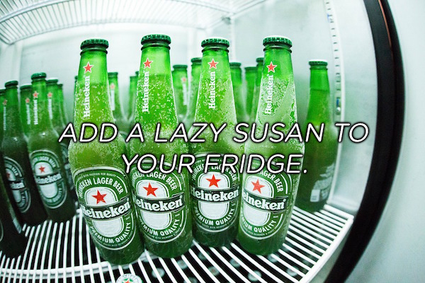 add a lazy susan to your frige copy Life hacks that may actually make things easier (16 Photos)