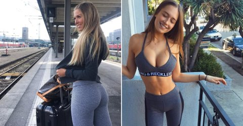 Hot sexy girls in yoga pants