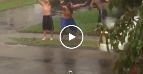 Three guys demonstrating that happiness doesn't cost much (Video)