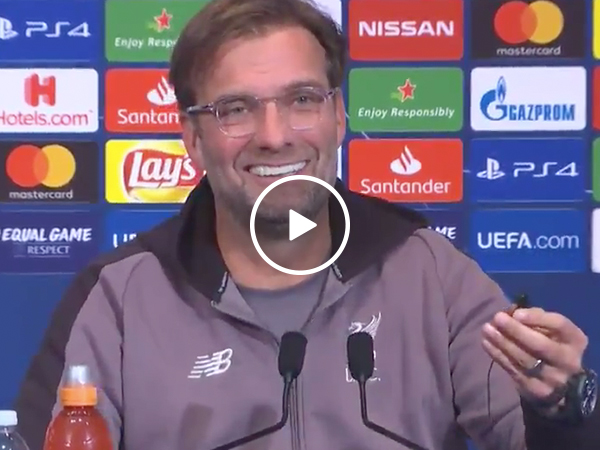 Liverpool F.C. coach gets a little too excited over a translator's voice (Video)