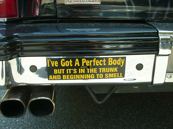 Funny Car stickers might be small but they say a lot (33 Photos)
