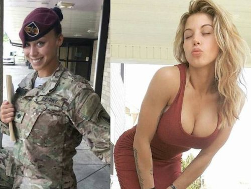 Ignore the Super Bowl and look at these sexy women instead : Stand at attention for badass babes in and out of uniform (54 Photos)
