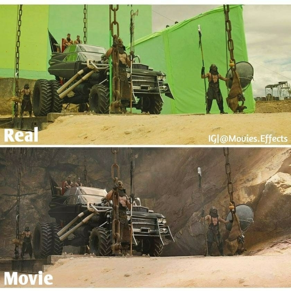 visual effects before and after shots show movie magic in the making 36 photos 25 9 Visual effects before and after shots show movie magic in the making (36 Photos)