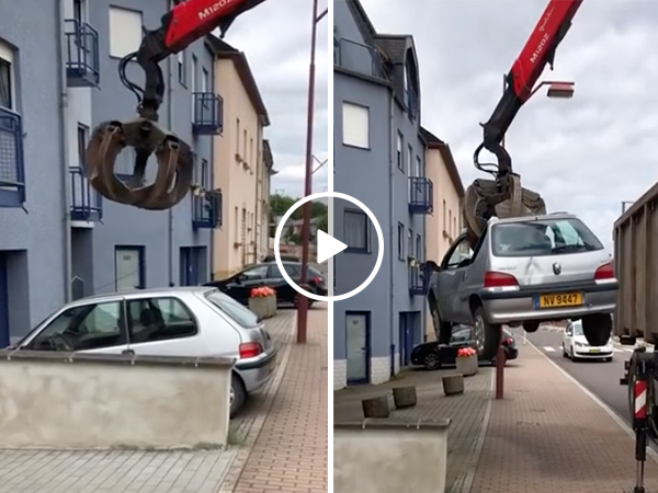 Inconsiderate neighbor parked in the WRONG driveway (Video)