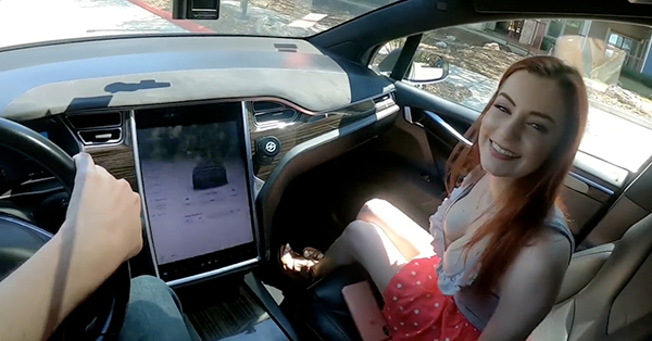 someone made a porn video in a tesla on autopilot or so im told xx photos 1 Someone made a porn video in a Tesla on autopilot, or so Im told... (7 Photos)