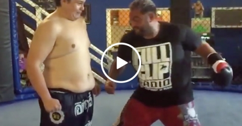 The iron fist of UFC legend Mark Hunt vs. A Kid Named Noodles (Video)