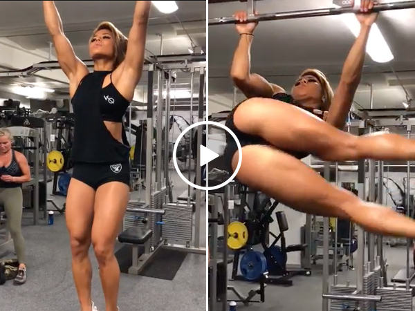 Sophie Arvebrink got more muscles in her core than I have in my body (Video)