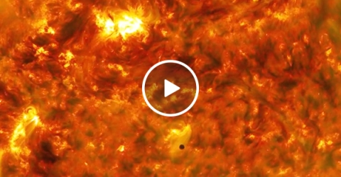 Mercury's transit in front of the Sun is mind-meltingly amazing (Video)