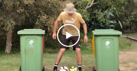 This kid is a magician with his feet (Video)