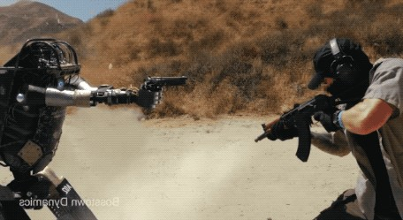 robot gun fight gif 12 stand off awesome start 12 Gun fighting ROBOT could be the end of future soldiers (12 GIFs)