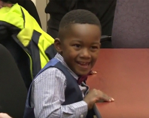 classmates attend boys adoption ceremony humanity 9 Kids supportive classmates attend the biggest moment of his young life