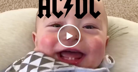 Dad remixes his son's coos into Thunderstruck, and it's adorably metal (Video)