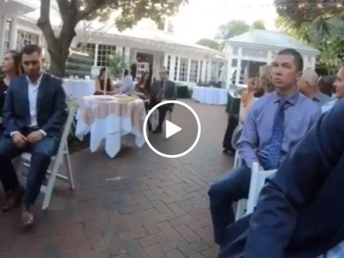The most epic way to get introduced at a wedding (Video)
