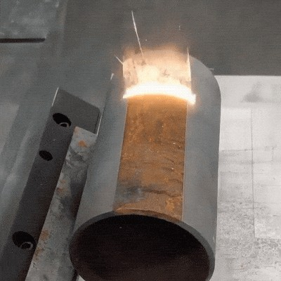 17 gifs 1 26 Who knew laser cleaning could be so mesmerizing... (17 GIFs)