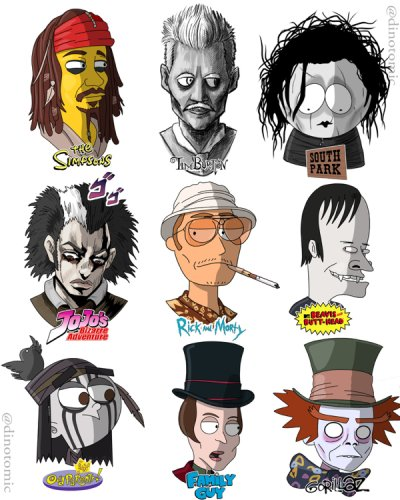 Artist Reimagines Celebs As Popular Cartoon Characters Thechive