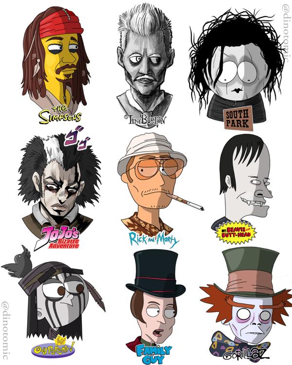 18 photos 7 Artist reimagines celebs as popular cartoon characters (19 Photos)