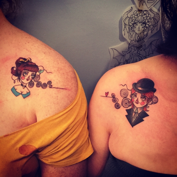 People Share Their Incredible Matching Tattoos Humanity Interesting Lifestyle Awesome Art 0 Those that tattoo together stay together... Hopefully (38 Photos)