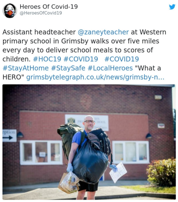 Teacher Zane Powles Walks Five Miles Every Day To Deliver Free Lunches To 70 Students Humanity Interesting RAK 4 Heroic teacher hikes 5mi every day to deliver lunch to 70+ students