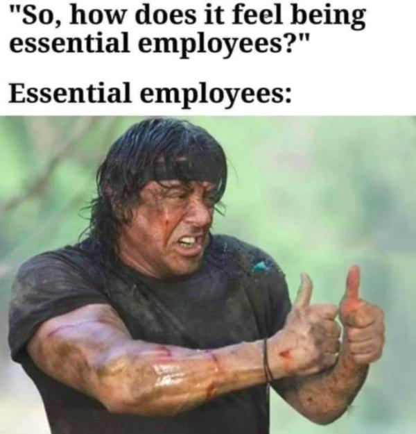 essential worker meme