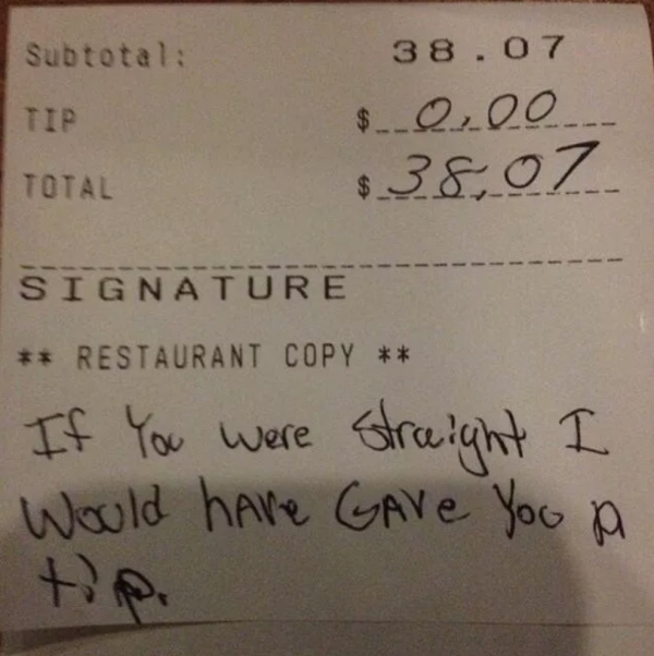 trashy people9 Trashy tips left by the trashiest people alive (25 photos)
