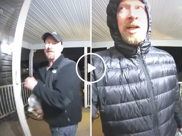 Dad leaves messages for his college daughter on the doorbell cam (Video)