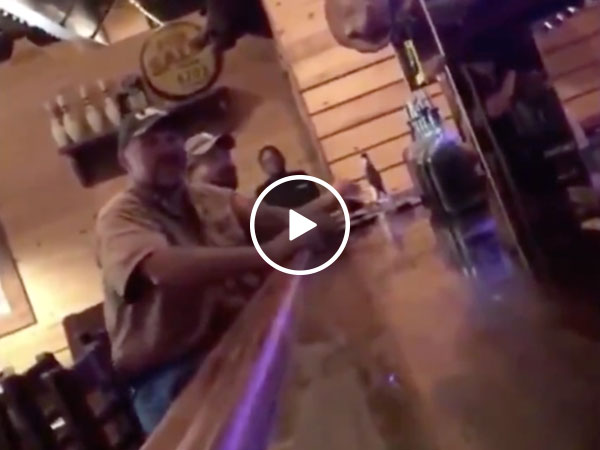 Drunk, unruly bar patron gets punched into another universe (Video)