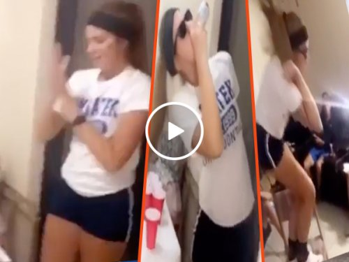 """Beer pong babe may be """"Greatest SH*T talker EVER"""" (Video)"""