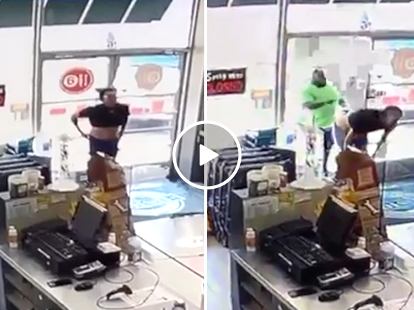 Naked shoplifter gets a fist full of Karma (Video)