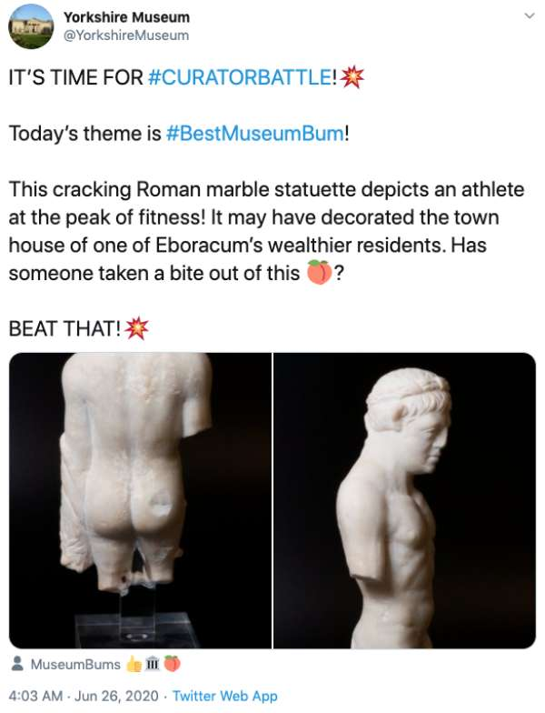 Museums On Twitter Enter A BestMuseumBum Sculpture Challenge Humanity Humor Funny Pictures 30 Museums on Twitter go a** to a** in a Best Bum Battle (31 Photos)