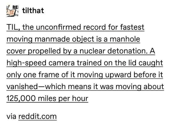frame moving upward before vanished which means moving about 125000 miles per hour via redditcom The insane true story of the fastest moving manmade object in history