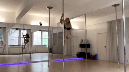 some girls know how to work the pole and some do not 18 gifs 12 6 Get yourself a girl who can work the pole... shes not here though (18 GIFs)