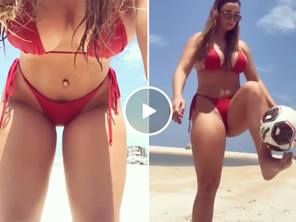 Krissy has a seriously amazing... love for soccer (Video)