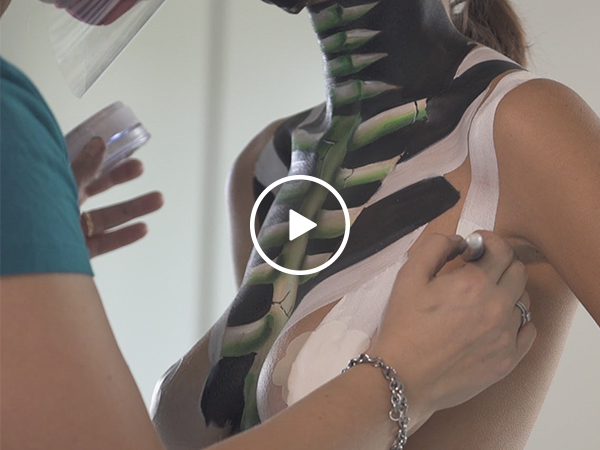 Rachel Hill gets the Body Paint treatment, and you're welcome (Video)