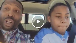 Dad has wholesome reaction to his son's horrible driving lesson (Video)