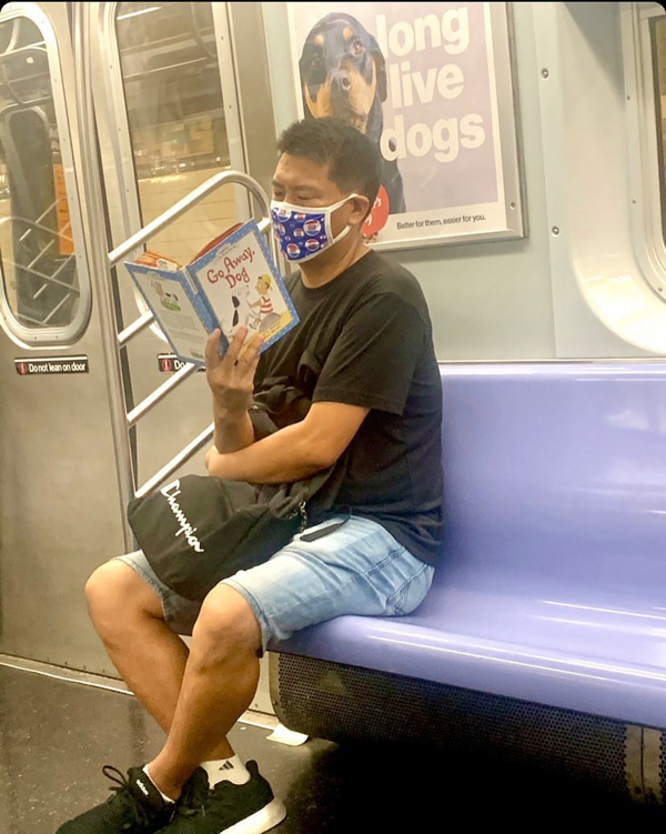 subwaycreatures 117718549 721763938679646 1945546950706941053 n Maybe think twice about your choice in subway reading material (42 Photos)