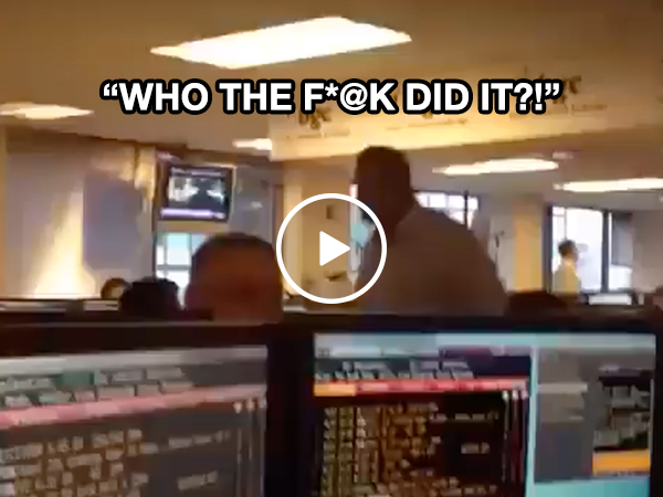 Member of staff gets chair pooped on, former does not take it well (Video)