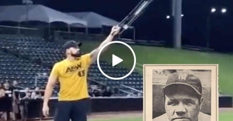 Wrestler channels Babe Ruth and calls for a CHAIR SHOT home run