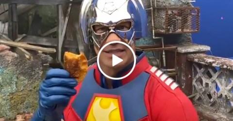 John Cena nom noms a crazy number of empanadas for The Suicide Squad (Video)