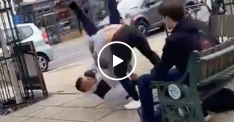 Grown Man tries to bully teen... who's a BJJ World Champion