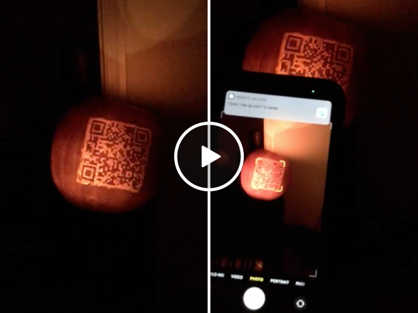 Must you see a QR code pumpkin this Halloween, don't do it! You've been warned (Video)